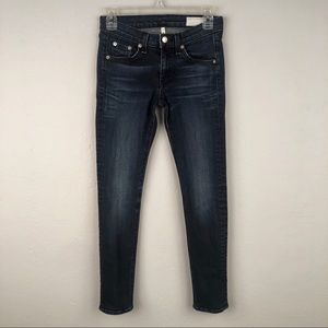 Rag & Bone Womens Size 25 Capri Dark Wash Skinny